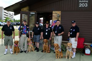 Rescue Dogs that work with Disabled Veterans were welcomed
