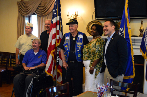 All who came to  bestow Veteran of the Month to Bob Krautstrunk