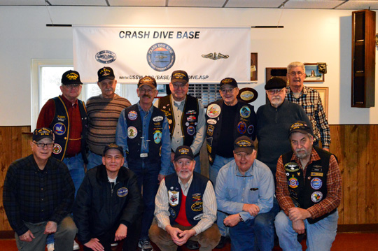 Crash Dive Base Members at Last Meeting of the Year