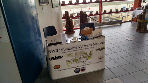 WWII Submarine Veterans Memorial Information Table