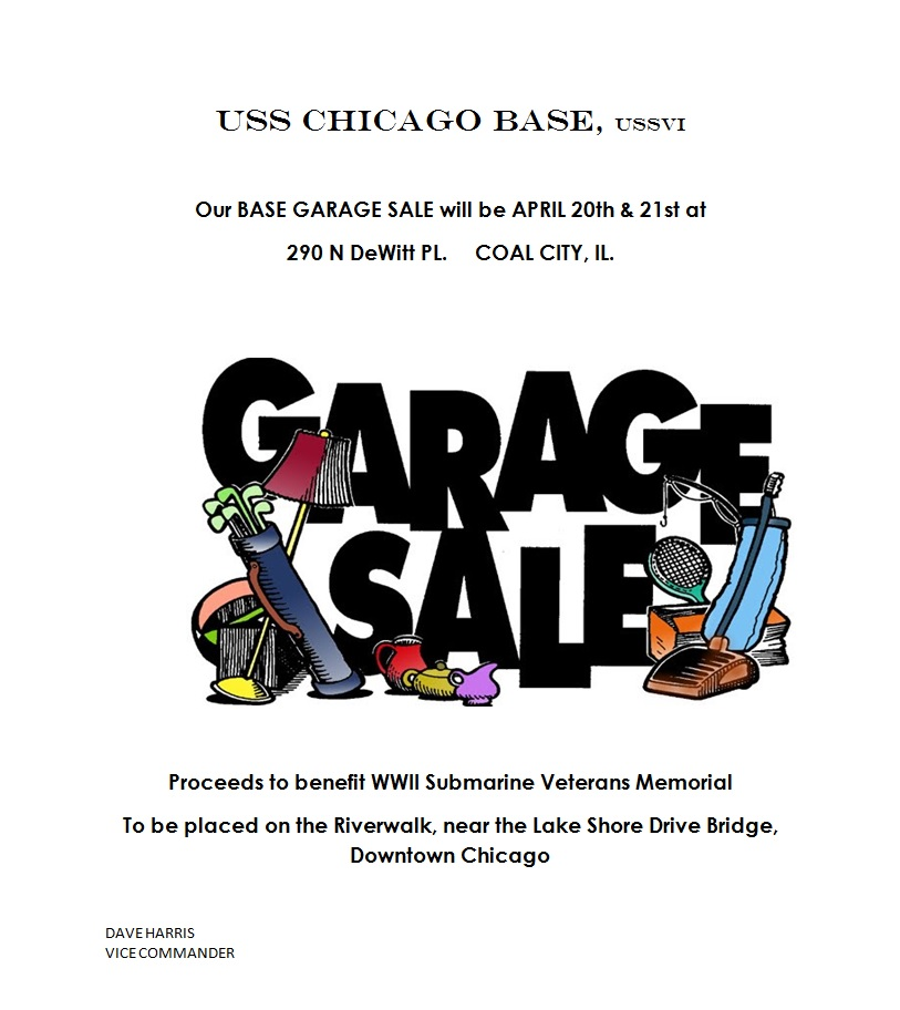 USS Chicago Base Memorial Garage Sale